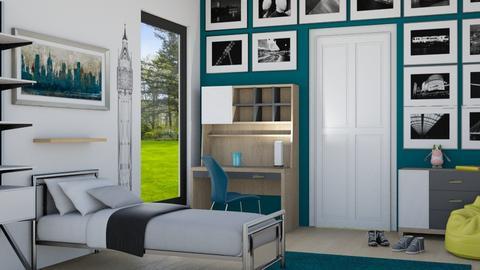 London - Bedroom - by juliavalerie