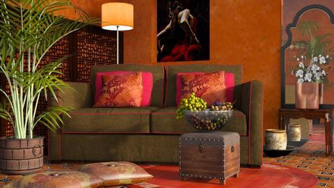 M_Terracotta - Living room - by milyca8