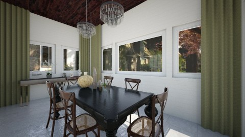 Rustic Colonial - Dining room - by Raquel Collison