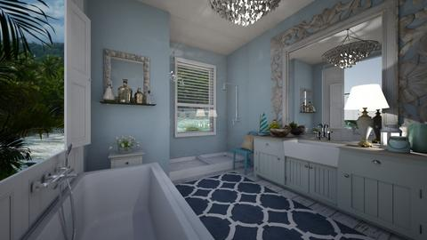 Nautical bathroom - Bathroom - by rebsrebsmmg