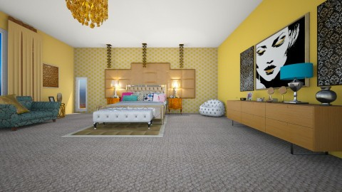 serena van der woodsen rm - Glamour - Bedroom - by fashiondesigner7
