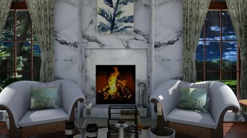 Pertinho - Living room - by Maria Helena_215