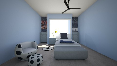 blue soccer  - Modern - Bedroom - by abby05_lom