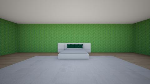 alma white and green - Bedroom - by abigail_j_feinberg