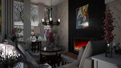 Um dia frio - Living room - by Maria Helena_215