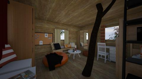 treehouse - Living room - by white_dove