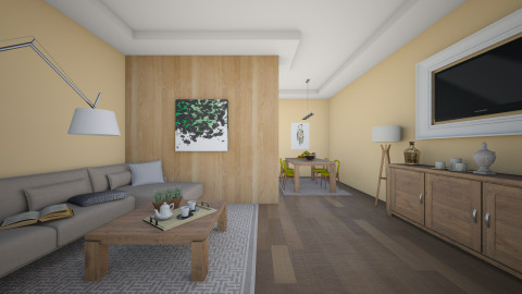 WOODEN ROOM - Living room - by MadebyG