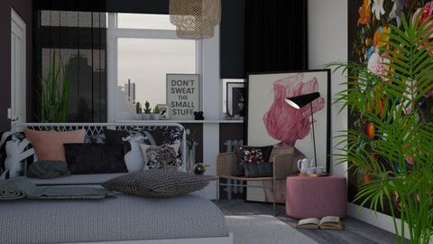 Student Bedroom - Feminine - Bedroom - by HenkRetro1960
