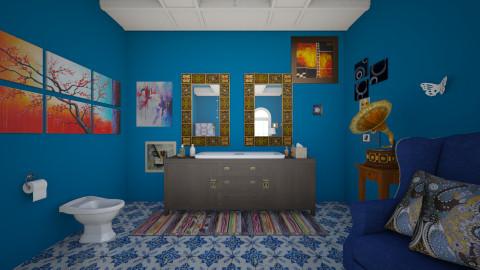 boho - Retro - Bathroom - by Angela Quintieri