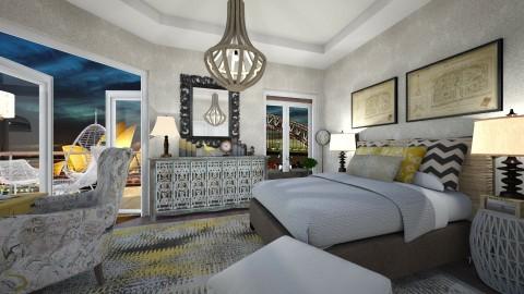 Touch of Yellow - Bedroom - by SimonRoshana