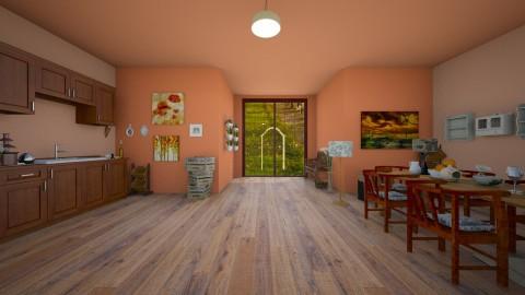 Wooden homely kitchen - Country - Kitchen - by zosiawojcik