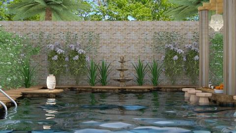 backyard pool - Rustic - by NEVERQUITDESIGNIT