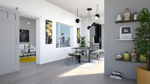 Grey - Dining room - by han_x