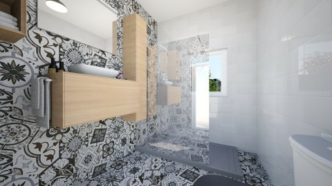123 - Retro - Bathroom - by heosua