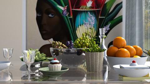Tropical_Menu - Dining room - by ZuzanaDesign