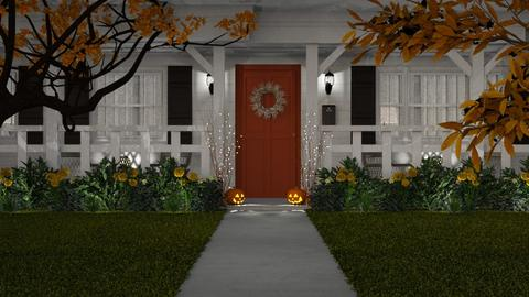 Autumn Curb Appeal - Garden - by GraceKathryn