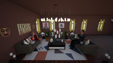 African Room - Vintage - Living room - by addss