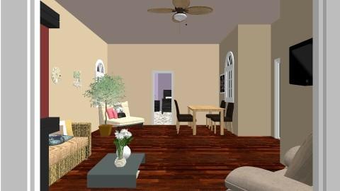 sala de estar y comedor - Living room - by Kristal McFadden