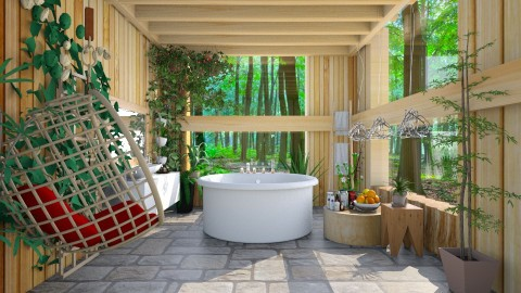 spa in nature  - Modern - Bathroom - by Ida Dzanovic