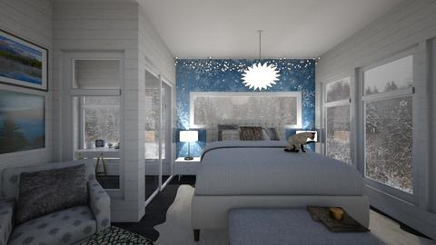 Winter Bedroom - Bedroom - by PenAndPaper