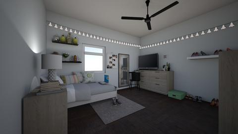 city bedroom - Minimal - Bedroom - by elladesign