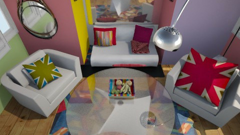 corolful liveing room - Eclectic - Living room - by theracoon