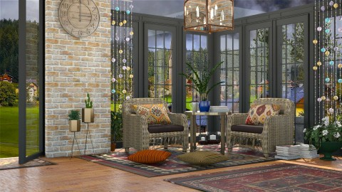 A touch of Boho - Living room - by meggle