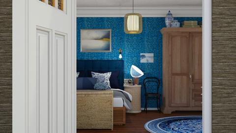 Blue - Modern - Bedroom - by HenkRetro1960