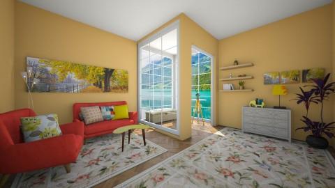 yellow - Living room - by Dijana93