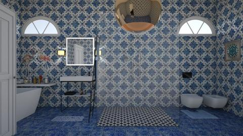 blue bathroom - Bathroom - by nat mi