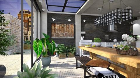 Urban Green - Eclectic - Kitchen - by leenshrkawi17
