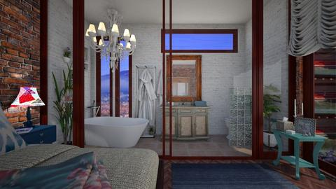 brick glass - Eclectic - Bathroom - by donella