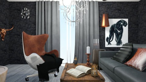 dark - Minimal - Living room - by margesimpson2000