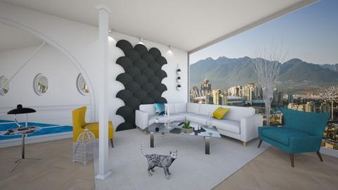 Columns Living Room 5 - Minimal - Living room - by yaizalloriginal