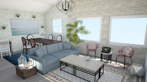 Pastels - Living room - by Becausecats11