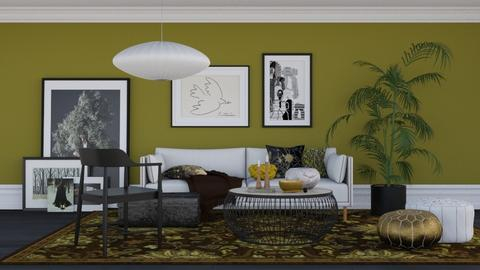 Mossy green - Modern - Living room - by HenkRetro1960