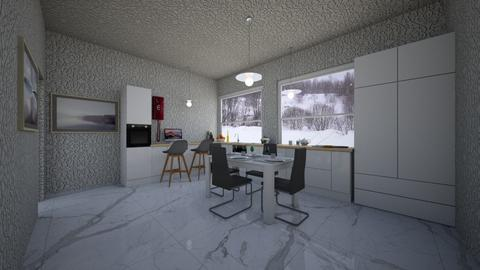white _ gray - Kitchen - by cguy67