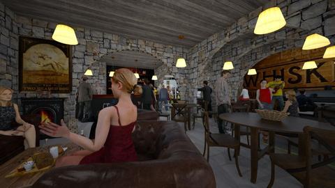 Village Pub - by Angie Weir