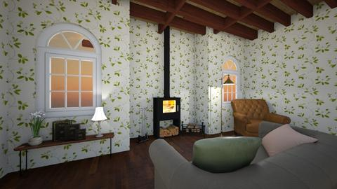 Cottage - Rustic - Living room - by ellie conway