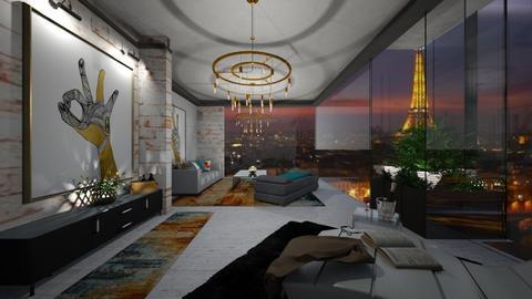 Modern France - Living room - by nanabpf