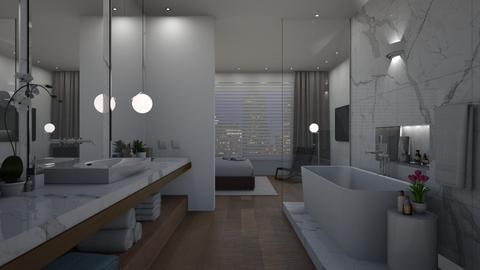 modern bath night - Minimal - Bathroom - by VALKHAN