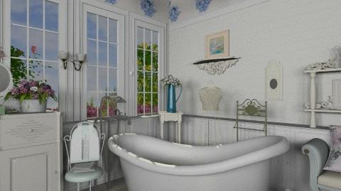 Roses - Vintage - Bathroom - by milyca8