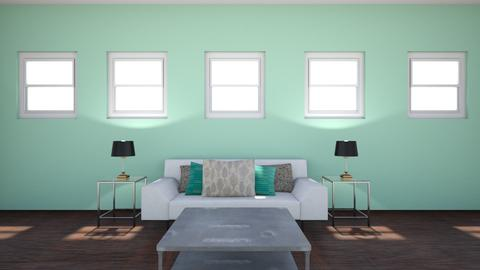 Blue and Green Living Roo - Living room - by Fixer Upper Rules