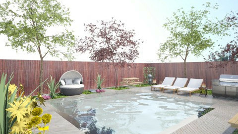 Pool and Garden - Modern - Garden - by ayu DR
