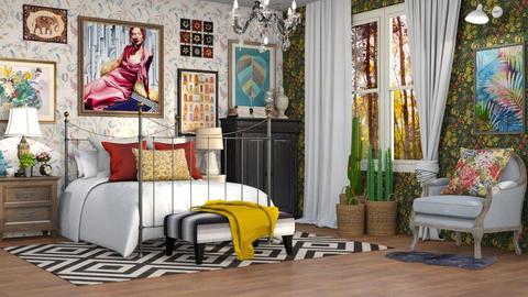 Maximalist Bedroom - by DeborahArmelin