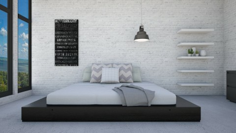 Low Bed - Modern - Bedroom - by Vampire_Kitty