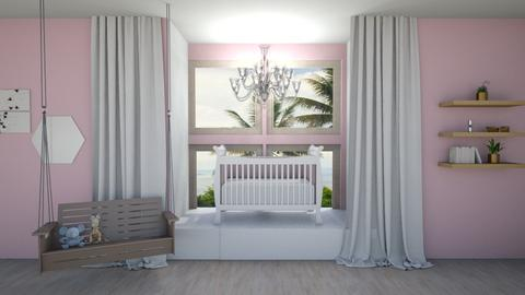 Pink Baby - Feminine - Kids room - by seasidepine