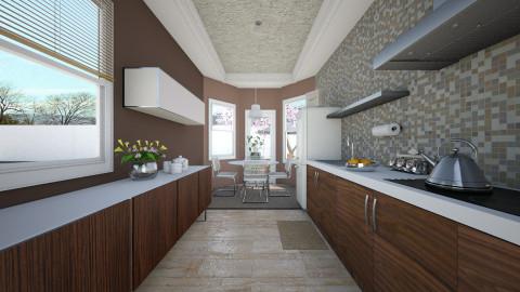 Narrow Kitchen - Kitchen - by janelle1