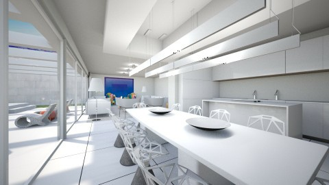 white and color - Living room - by Talles Paganotti
