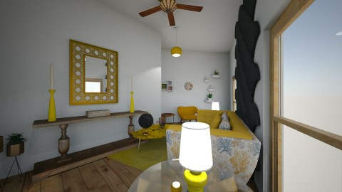 yellow livingroom - Living room - by zainizaheer